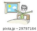 朝を気持ちよく起きるシニア男性 29797164