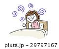 朝の体調がすぐれない若い女性 29797167