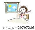 朝を気持ちよく起きる若い女性 29797286