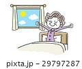 朝を気持ちよく起きるシニア女性 29797287