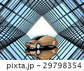 万華鏡のような背景にあるシャンパンゴールドのクルマ 29798354
