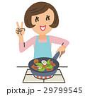 料理 調理 炒め物のイラスト 29799545