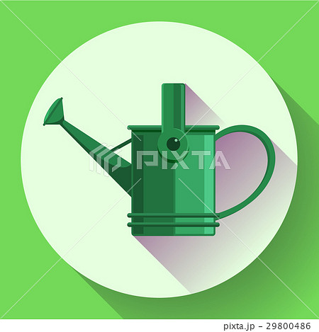 watering can icon irrigation symbol flat vectorのイラスト素材
