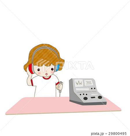 聴力検査 女の子 29800495