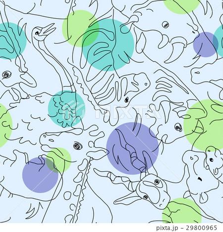 アニマルイラスト/シームレスパターン 29800965