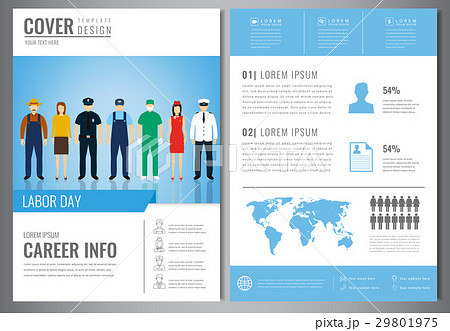 international labor day brochure design templateのイラスト素材