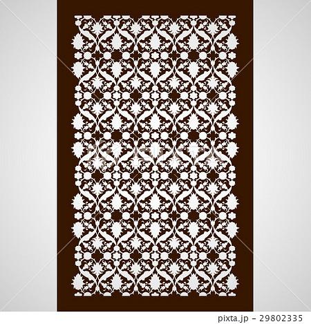 Laser cut floral arabesque ornament pattern vector 29802335