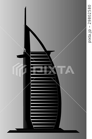 Dubai Burj Al Arab illustration 29802580