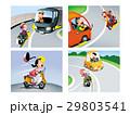 二輪車交通ルール、バイクの事故イラスト 29803541