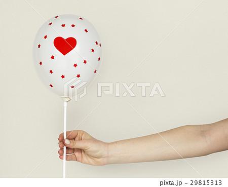 Hands Holding Balloon Heart Decorationの写真素材 [29815313] - PIXTA