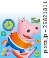 カバと数学、カバキャラクター、ピンクのかば 29821811
