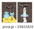 Happy Birthday Vector Cartoon Greeting Card 29822829