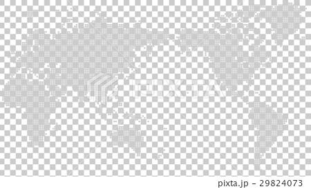 ドット世界地図 29824073