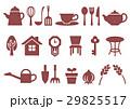 木プリント風 マークイラスト(赤) ホーム・インテリア・キッチン・ガーデン 29825517