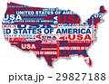 アメリカ地図 29827188