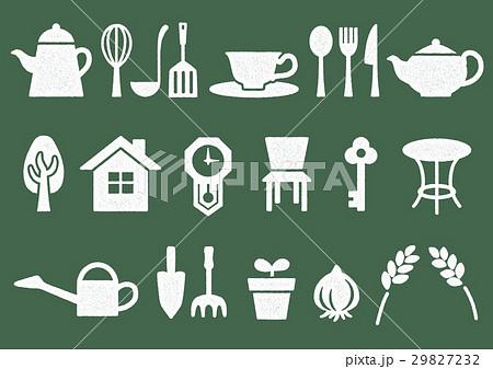 木プリント風 マークイラスト(白) ホーム・インテリア・キッチン・ガーデン 29827232