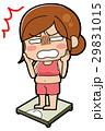 体重計 女性 表情のイラスト 29831015