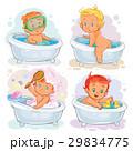 Small children take a bath 29834775