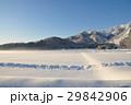 白馬五竜スキー場飯森ゲレンデを望む田畑からの景色 29842906