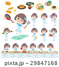 Pop idol in blue costume cooking 29847168