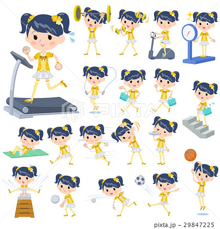 Pop idol in yellow costume Sports & exercise 29847225