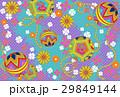 デジタル和素材手鞠紫青緑系 29849144