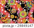 デジタル和素材手鞠赤黒系 29849147