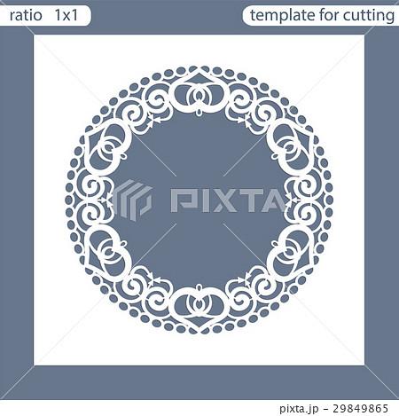 Laser cut wedding invitation card template. 29849865