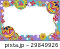 デジタル和はがき手鞠紫青緑系 29849926