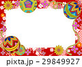 デジタル和はがき手鞠赤桃系 29849927