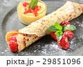 クレープ パンケーキ ラズベリーの写真 29851096