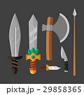 Knife weapon dangerous metallic vector 29858365