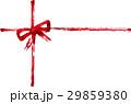 筆書き_リボン_十字_赤 29859380