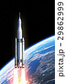 Space Launch System Over The Earth 29862999
