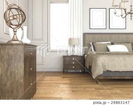 gold accessory in classic bedroomのイラスト素材 [29863147] - PIXTA
