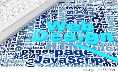 Computer keyboard with web design keywords 29863939