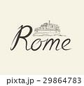 Rome city. Landmark, lettering. Travel Italy sign 29864783