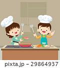 お菓子づくり パンを焼く シェフのイラスト 29864937