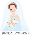 新婦 ブライダル 花嫁のイラスト 29864979