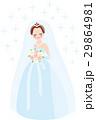 結婚 花嫁 全身 キラキラ 29864981