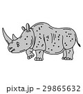 Cartoon mascot rhinoceros isolated 29865632