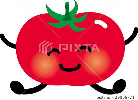 トマト キャラクターのイラスト素材 29866771 Pixta