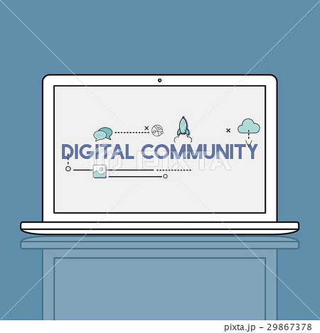 Digital Community Interaction Online Communication Stay Connected Interactive 29867378