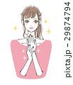 ネイルをしたポニーテールの女性 29874794
