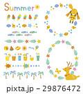 夏 装飾 セットのイラスト 29876472