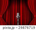 レッドカーテン ステージ マイク 29876719