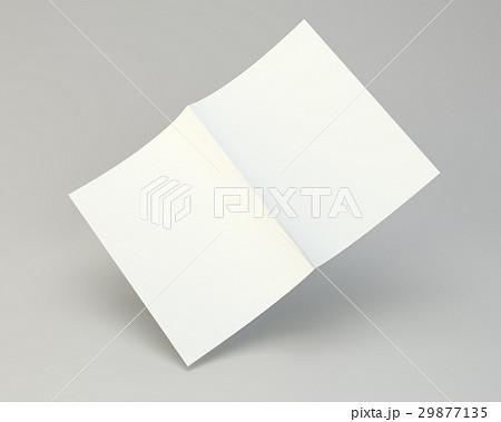 blank folded white brochure 3d rendering on grayのイラスト素材