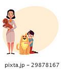 Woman, female veterinarian doctor, vet and little 29878167