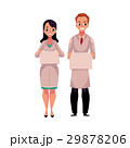 Male and female doctors in medical coat holding 29878206