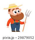 農民 キャラクター 文字のイラスト 29879052